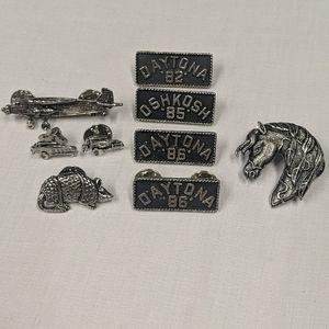 Vintage bike week pin set